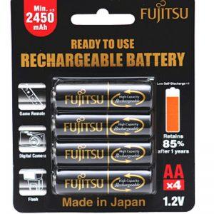 Fujitsu 2450Mah (2500mah ) Rechargeable Battery , Made in Japan ( HR-3uTHB )