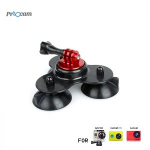 Proocam Pro-F081 Low Angle sucker suction cup for Gopro Hero , SJCAM , MIYI action camera, Dji Osmo