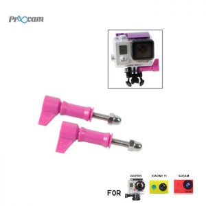 Proocam Pro-F106PK L-Like shape Thumb Screw with tale for Gopro Hero 6 5 4 3 2 1, DJI Osmo (Pink)