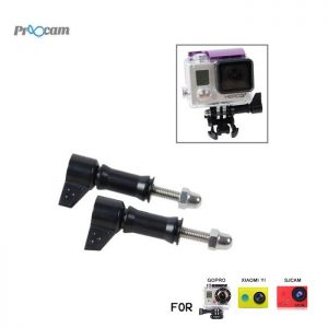 Proocam Pro-F106BK L-Like shape Thumb Screw with tale for Gopro Hero 6 5 4 3 2 1, Dji Osmo (Black)