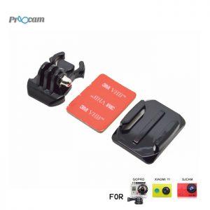 Proocam Pro-J013 Gopro Helmet Curved Surface & Mount for Gopro Hero 6,5,4,3,2,1 Action Camera, Dji Osmo