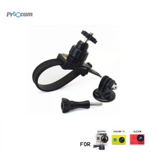 Proocam Pro-F015 Zip Strap Mount with Tripod Adapter Screw ballhead Bike,Motorbike for Gopro Hero , SJCAM , MIYI action camera