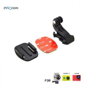 Proocam Pro-J057 J-Hook Buckle Flat Mount with 3M Sticker for Gopro Hero action camera, Dji Osmo