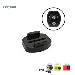 Proocam Pro-J121 Flat Buckle Universal 1/4inch Thread for Camera Tripod for Gopro Hero Action camera, Dji Osmo
