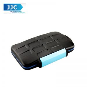 JJC MC-2 Rubber Sealed Water-Resistant Memory Card Case for 4 Cf Cards 8 Sd Cards