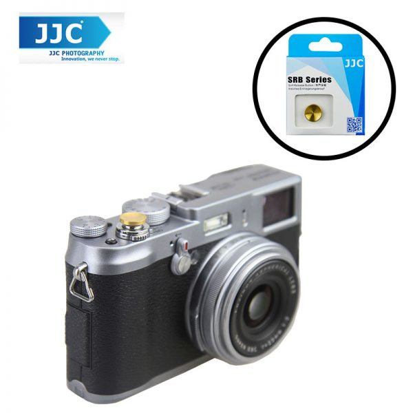 JJC SRB-C11DGD Gold Dark Metal Soft release button finger touch for Sony Leica Fujifilm X10 X20 X30 X100T X100