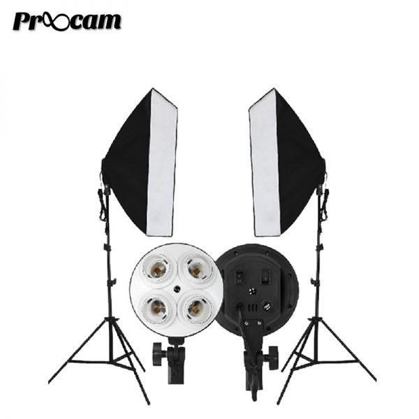 Proocam Continuous Lighting Studio Kit  Light stand softbox 50x70cm (1pair)