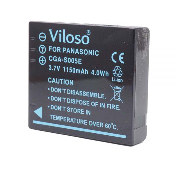 Proocam Panasonic Lumix CGA-S005 s005e Battery for BCC12 DMC-FX07 LX3 FX50