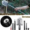 Delly SHV-231 23 in 1 stainless steel multi purpose folding shovel Outdoor camping offroad