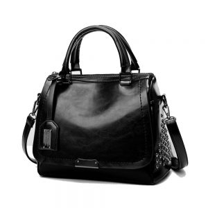 Delly Fashion Women Bag Leather Handbag Luxury Ladies Shoulder Beg BLACK - LHL-BK