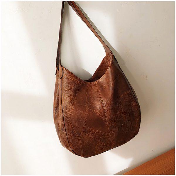 Delly New Luxury Women Bags Designers Handbags Vintage Leather Handbag Ladies Hand Bag Sling Bag Brown LWD-BR