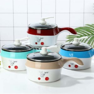 Delly Life Electric NonStick Ceramic/Marble Frying Pan Rice Multi Mini Rice electric frying pan noodle pot-Khaki LEN-K