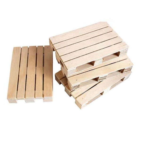 Mini Wood Pallet Coasters for Coffee Tea Drinks 1.8cm x 8cm x 12cm