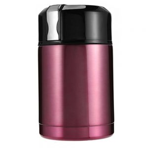 DELLY KOREA 1000ML THERMOS FOR FOOD WITH CONTAINERS STAINLESS STEEL VACUUM LUNCH BOX THERMOS FOR SOUP RICE PORRIDGE BPA-FREE PINK LBC-P