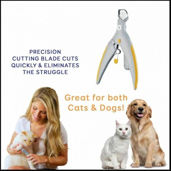 Delly LED Pet Dog Cat Cutter Nail Clipper Cutting Machine Beauty Scissors Animal Locks Pet Light Nail Trimmer NCL-YL