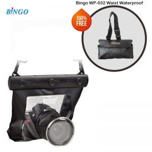Bingo Wp055 Waterproof Case for Digital DSLR Camera for Long lens - Black (150mm)  free waist pouch