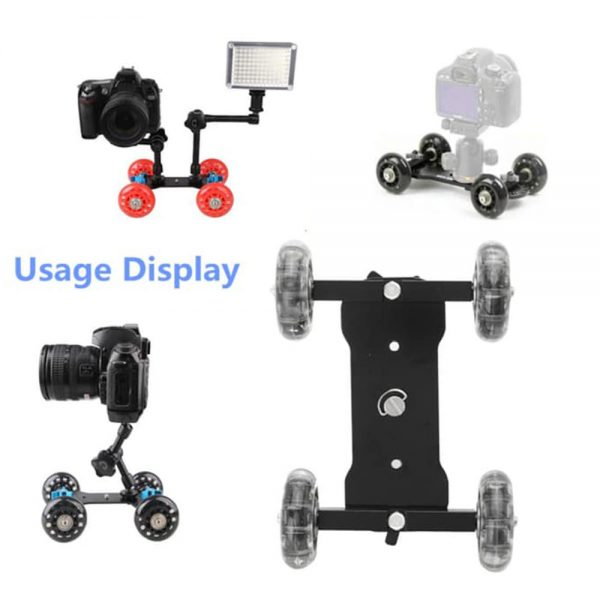 Proocam MVD-01 Medium Dolly video Skater with Wheel Rolling Black For DSLR Camera Camcorder