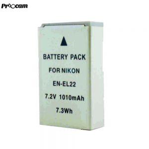 Proocam Viloso EN-EL22 rechargeable Camera battery for Nikon 1 J4, Nikon 1 S2 Cameras