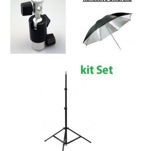 Flash Ballhead And Umbrella With Stand Set