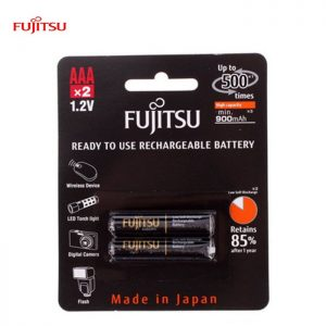 Fujitsu AAA rechargeable Battery 950mah (Min900ma) 2pcs pack -Made in Japan