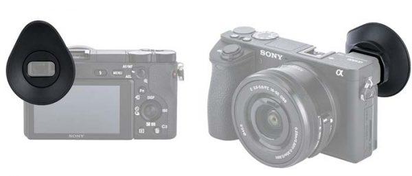 JJC ES-A6500 Camera Eyecup Eye Cup Eyepiece Viewfinder for Sony Alpha A6500, replaces FDA-EP17 Eyecup