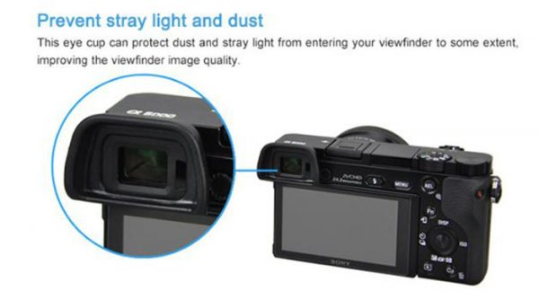 JJC ES-EP10 Eye Cup eyepiece For Sony Camera FDA-EP10 NEX-6 NEX-7 a6000 a6300