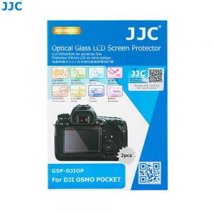 JJC GSP-DJIOP Dedicated Tempered Glass Screen Protector Kit for DJI OSMO Pocket Osmo Pocket Camera, 0.3mm Ultra-Thin / 9H Hardness / 2.5D Round Edges