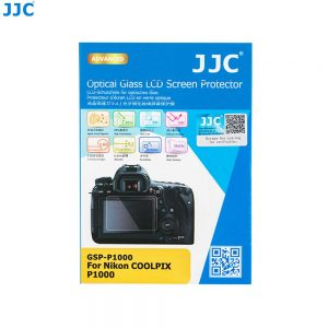 JJC GSP-P1000 Ultra-Thin 9H 2.5D Tempered Glass Clear LCD Screen Protector for Nikon COOLPIX P1000
