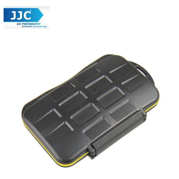 JJC MC-SDMSD24 Waterproof Sealed Memory Card Case Holder for 12 SD Memory  ,12 Micro Sd Card