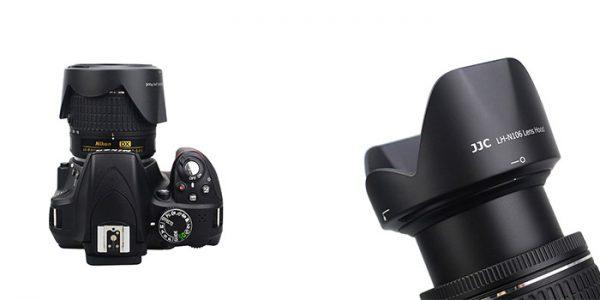 JJC LH-N106 replaces NIKON HB-N106 Lens Hood (for Nikon AF-P 18-55mm f/3.5-5.6G VR lens)