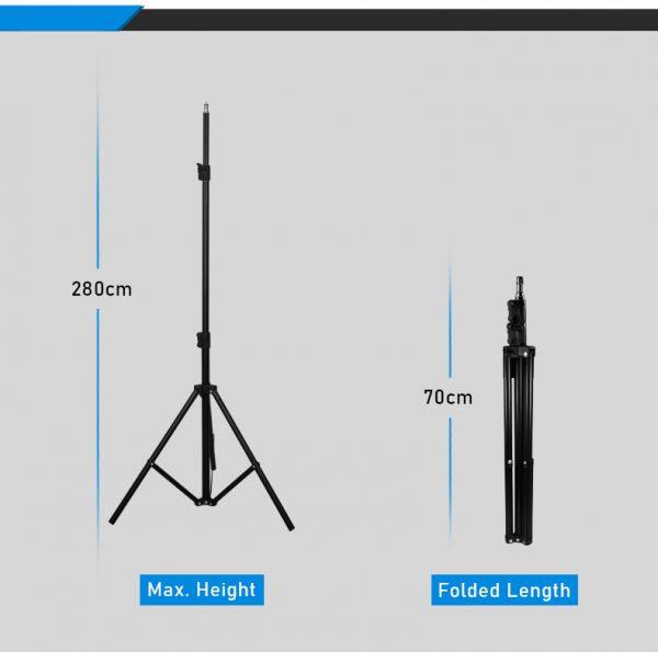 Proocam LS280 Adjustable Photography Light Stand for Studio (280cm)