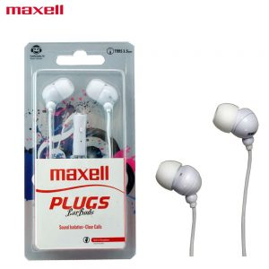 Maxell In-Ear Buds with Built-in Microphone White for Mobile Phone