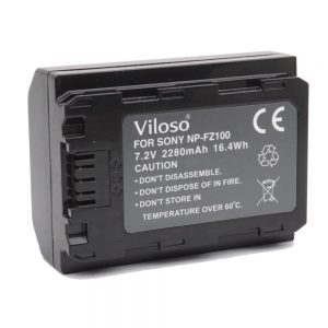 Proocam Viloso Sony A7 III 3 Camera Battery rechargeable ( NP-FZ100 )