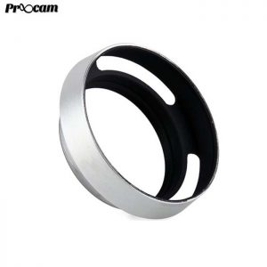 PROOCAM 37mm Metal Lens Hood Shade for Leica Nikon canon Fujifilm Olympus Lens Silver (MLH-37S)