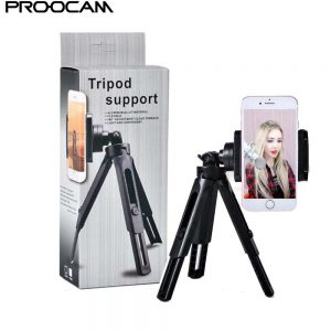 Proocam TRP-11 Phone Mobile Portable Tripod support aluminium alloy material 360 degree adjustment light and convenient