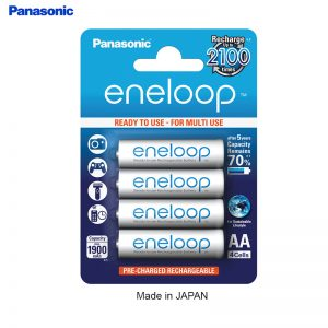 Panasonic Eneloop Rechargeable Battery AA 2000mah  (Pack of 4pcs ) -Made in Japan