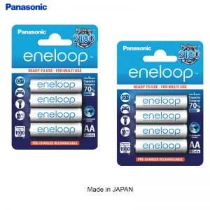 Panasonic Eneloop Rechargeable Battery AA 2000mah (Pack of 8pcs/2 Pack ) -Made In Japan