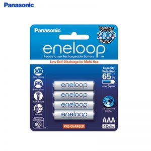 Panasonic Eneloop Rechargeable Battery AAA 750mah (Pack of 4pcs ) Made in Japan