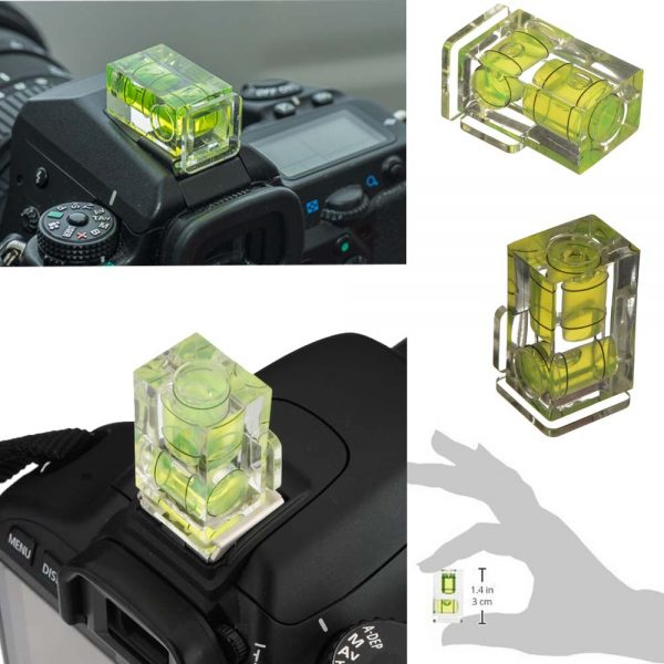 Proocam 4F-1 Axis Bubble Spirit Level Hot Shoe Adapter for camera and tripod photo