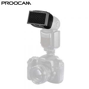 Proocam DF-05 Universal Honeycomb Grid for External Camera Flashes Speedlite Nikon Canon Sony Olympus -Black
