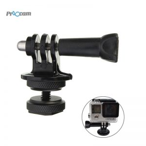 PROOCAM PRO-F206 2 Way Hot Shoe Mount adaptor converter to Camera with Screw for Gopro Hero, DJI Osmo