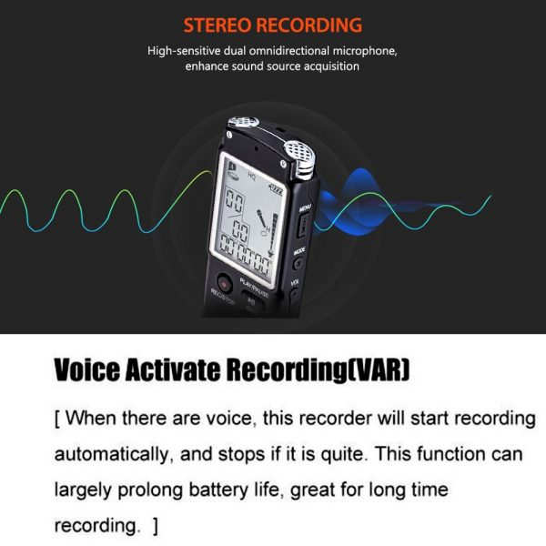 Proocam T60 digital voice Sound recorder stereo Mp3 One Button LCD screen hand mic 3.5mm jack