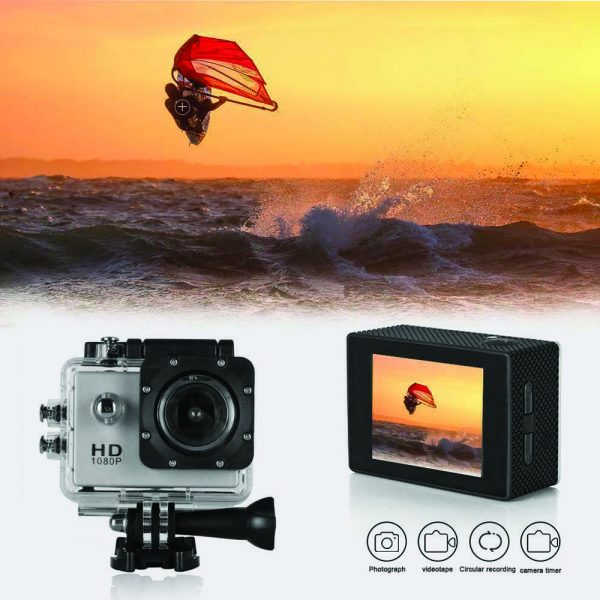 Sj50 HD 1080p Full 2.0 Inch Action Camera for Travel Sport Full Set with gopro accessories -White