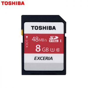 Toshiba 8GB SD EXCERIA -memory Card N301 R48mb/s -Made In Japan