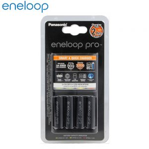 Panasonic Eneloop Pro Quick Charger 2hour charging with 4 AA 2500mAh Rechargeable Battery (K-KJ55HCD40E)