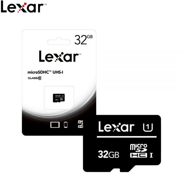 Lexar 32GB MicroSDHC MicroSD Memory Card Class 10 UHS-1 80 MB/s For Smartphone and Action Camera