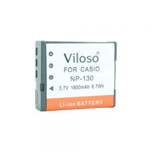 Proocam Casio NP-130 NP130 Compatible battery for Exilim EX-10, EX-100, EX-ZR1000 ,EX-ZR1200