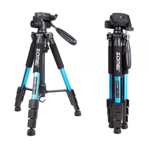 Zomei Q111 Portable Pro Camera Travel Tripod Lightweight Stand for DSLR Morroless camera BLUE