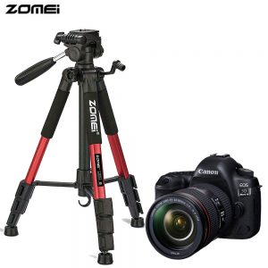 Zomei Q111 Portable Pro Camera Travel Tripod Lightweight Stand for DSLR Morroless camera RED