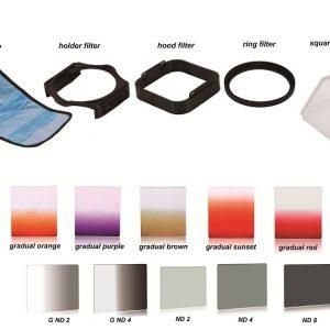 ZOMEI P-Color Pro Square Filter Set for DSLR Camera System